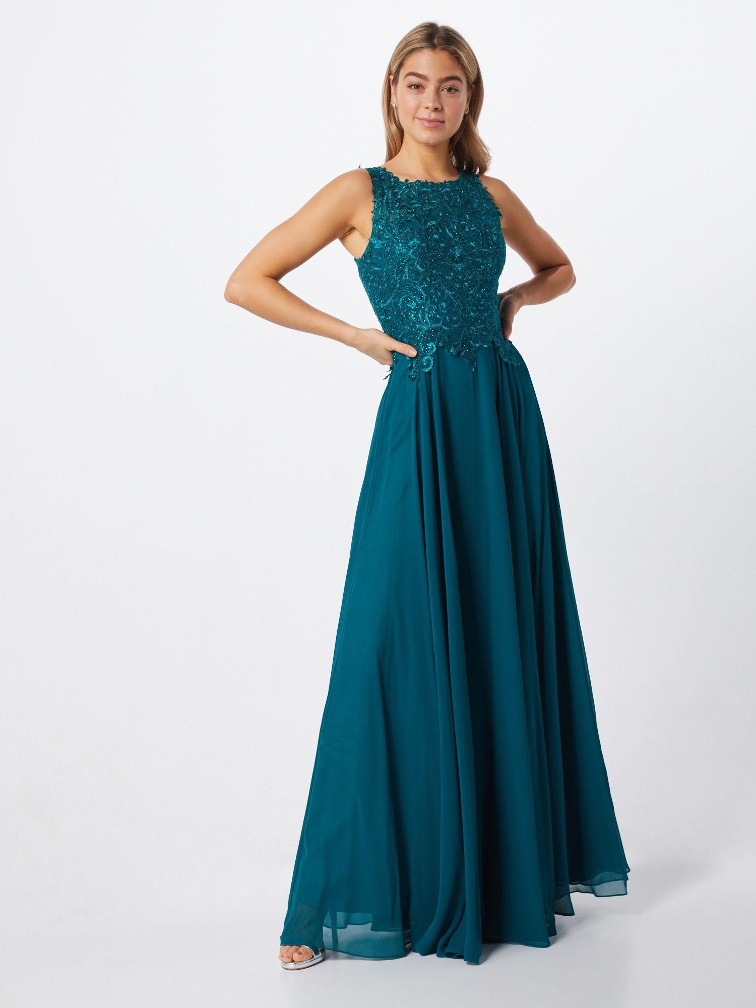 LUXUAR Kleid in smaragd - #Kleid #LUXUAR #smaragd in 15  Luxuar
