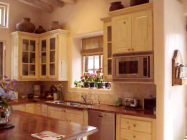 Main House Kitchen Cabinets Constructed from recycled ...