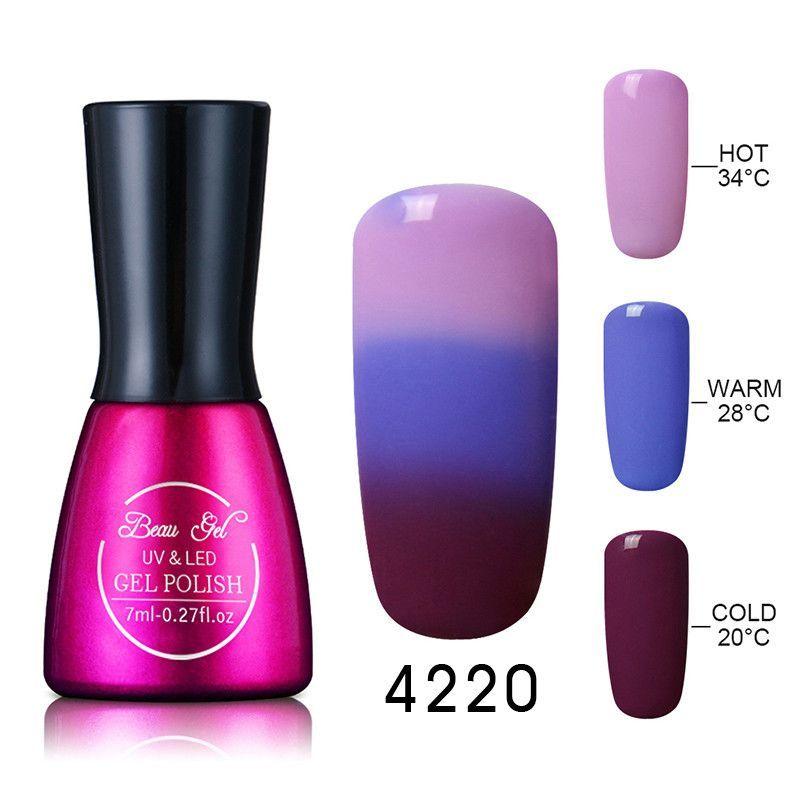 Beau Gel UV Nails Polish Gel 7ml Temperature Color Changing Gel Polish Professional Soak Off Thermal Gel Lak Gelpolish