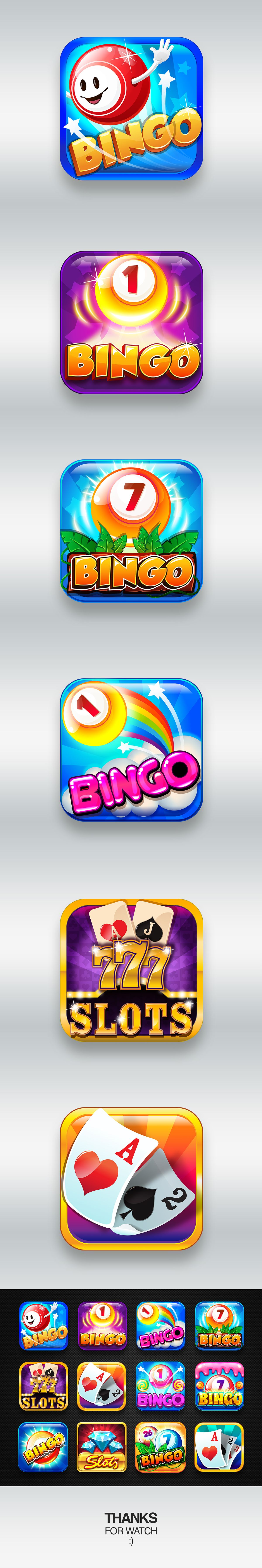 Mobile game icons design on behance pinup art