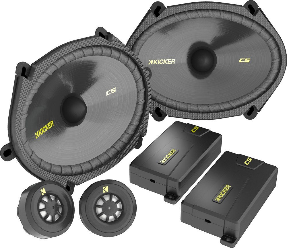 "Kicker 40CSS684 6""x8"" component speaker system at"