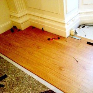 Diy Floating Floor Installation Easy Upgrade For A Rental Floating Floor House Rental Flooring