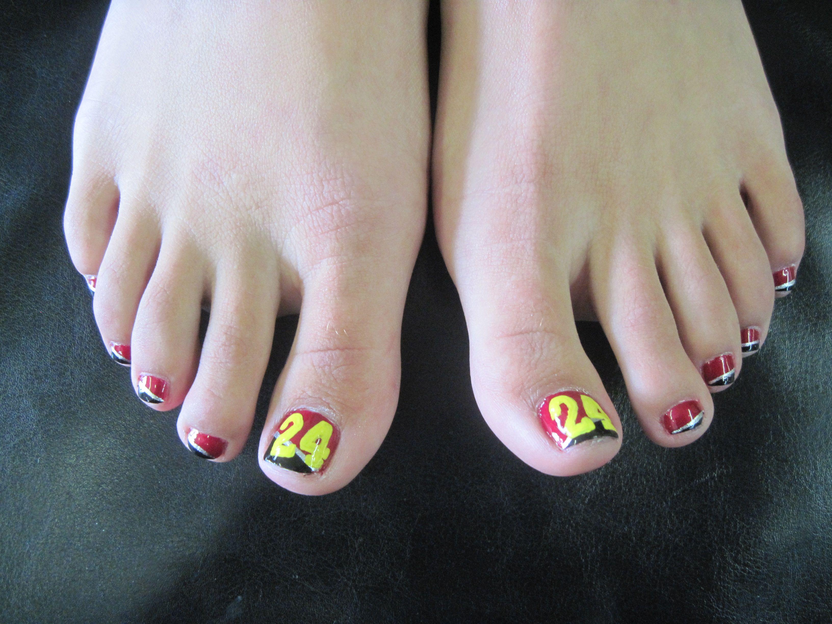 24 Jeff Gordon Nail Art Pedicure | My Manicure & Pedicure Work ...
