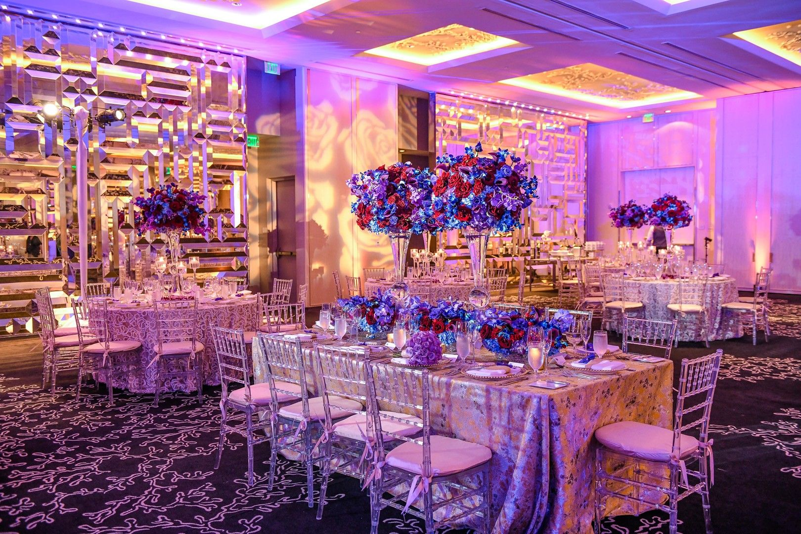 Wedding decorations pics october 2018 A Luxury Orchid Filled Miami Beach Wedding  Orchid Centerpieces