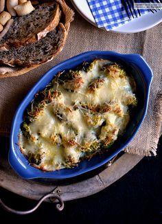 Brócoli con bacon y bechamel. Receta fácil y sabrosa