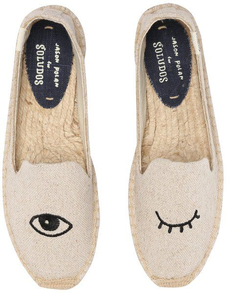 Soludos Women's Jason Polan For Collaboration Flat, Wink Sand, ...