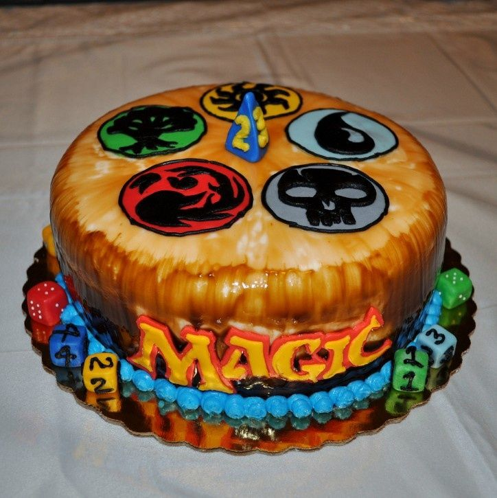 magic the gathering cake via amanda flynn CAKES Pinterest Cake