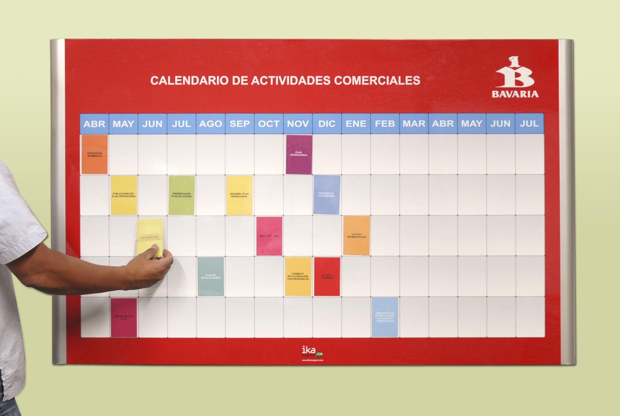 Bavaria Gestion Visual Visual Management Visual Chart Cronogramas de actividades en excel