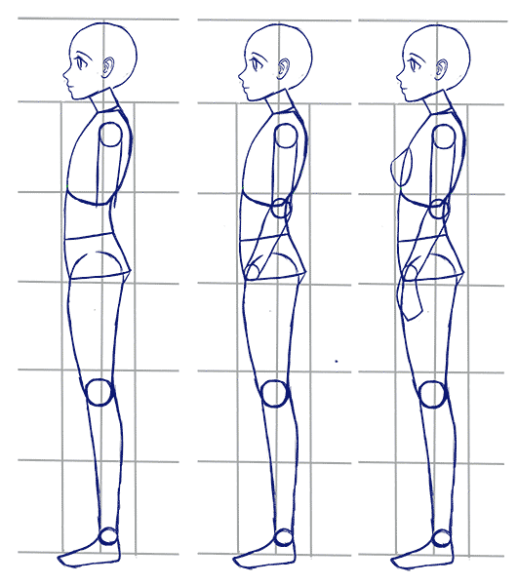 How To Draw Anime Side View Full Body Profile Manga Tuts Anime Side View Anime Drawings Body Drawing Tutorial