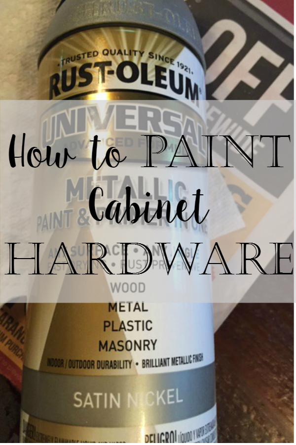 How to Spray Paint Cabinet Hardware Like A Pro