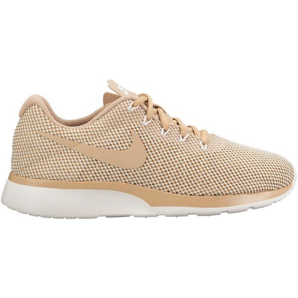 Nike Tanjun Racer Women's Sneakers ($65) ❤ liked on Polyvore featuring  shoes, athletic shoes, brown, lightweight shoes, brown lace up shoes, laced  …