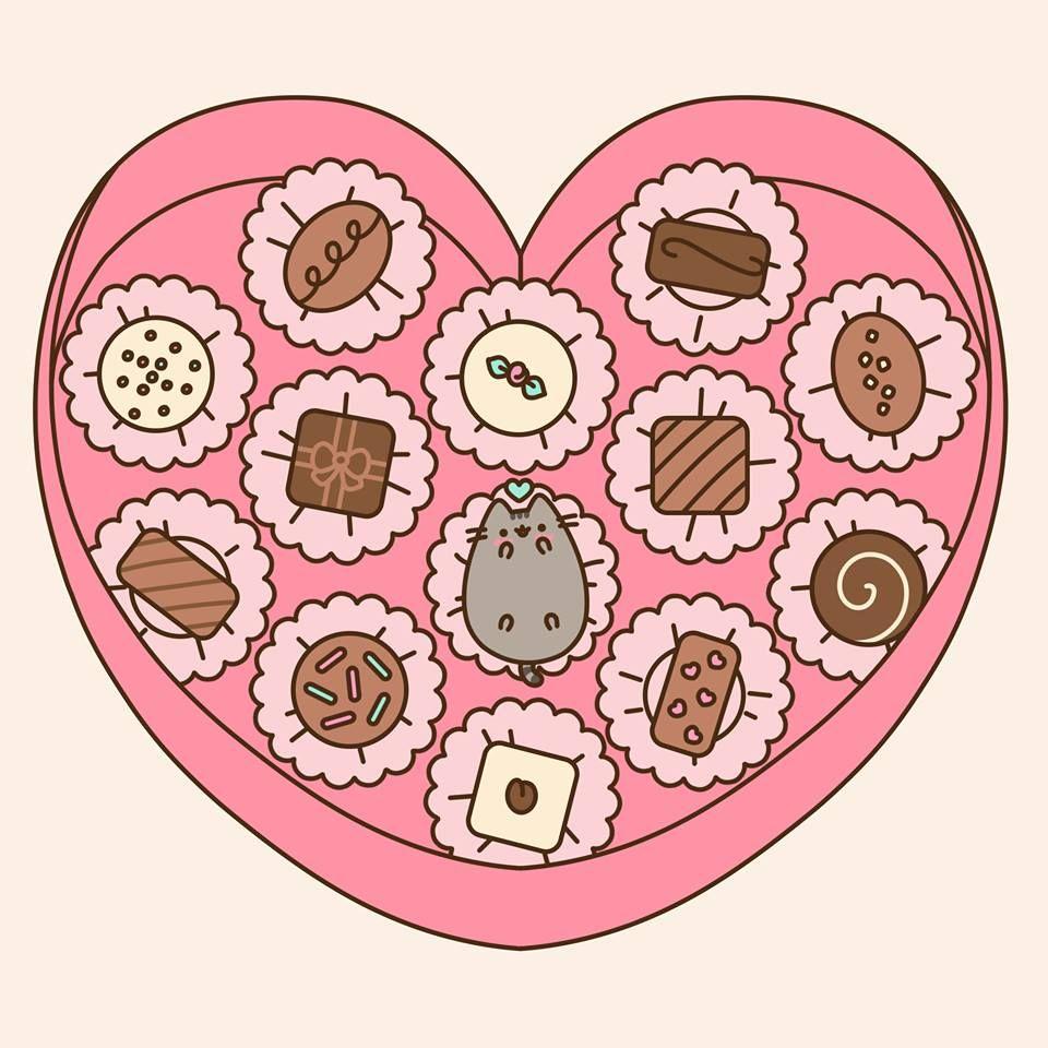 Happy Valentine S Day Pusheen Kawaii Yummy Pinterest