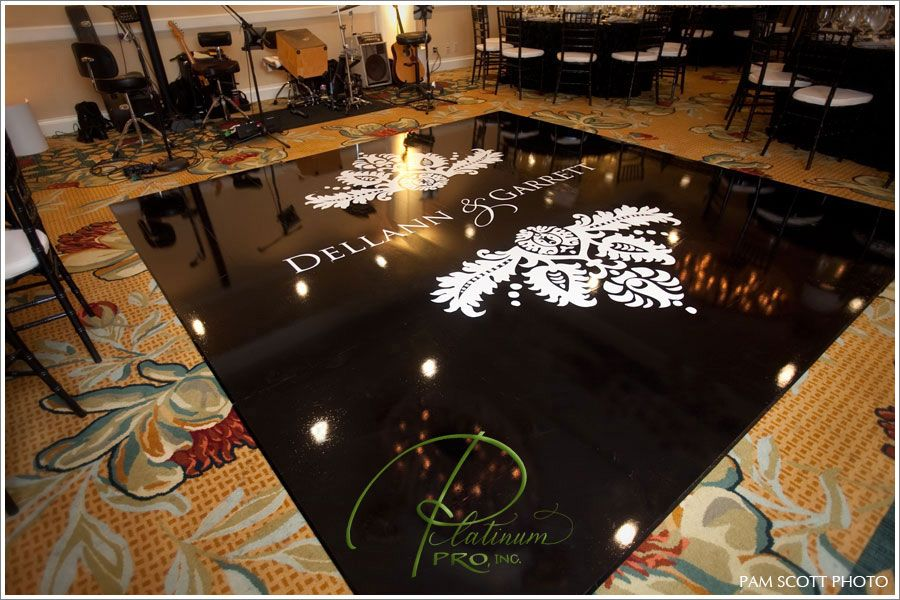 Custom Black And White Dance Floor Wedding Hotel Del