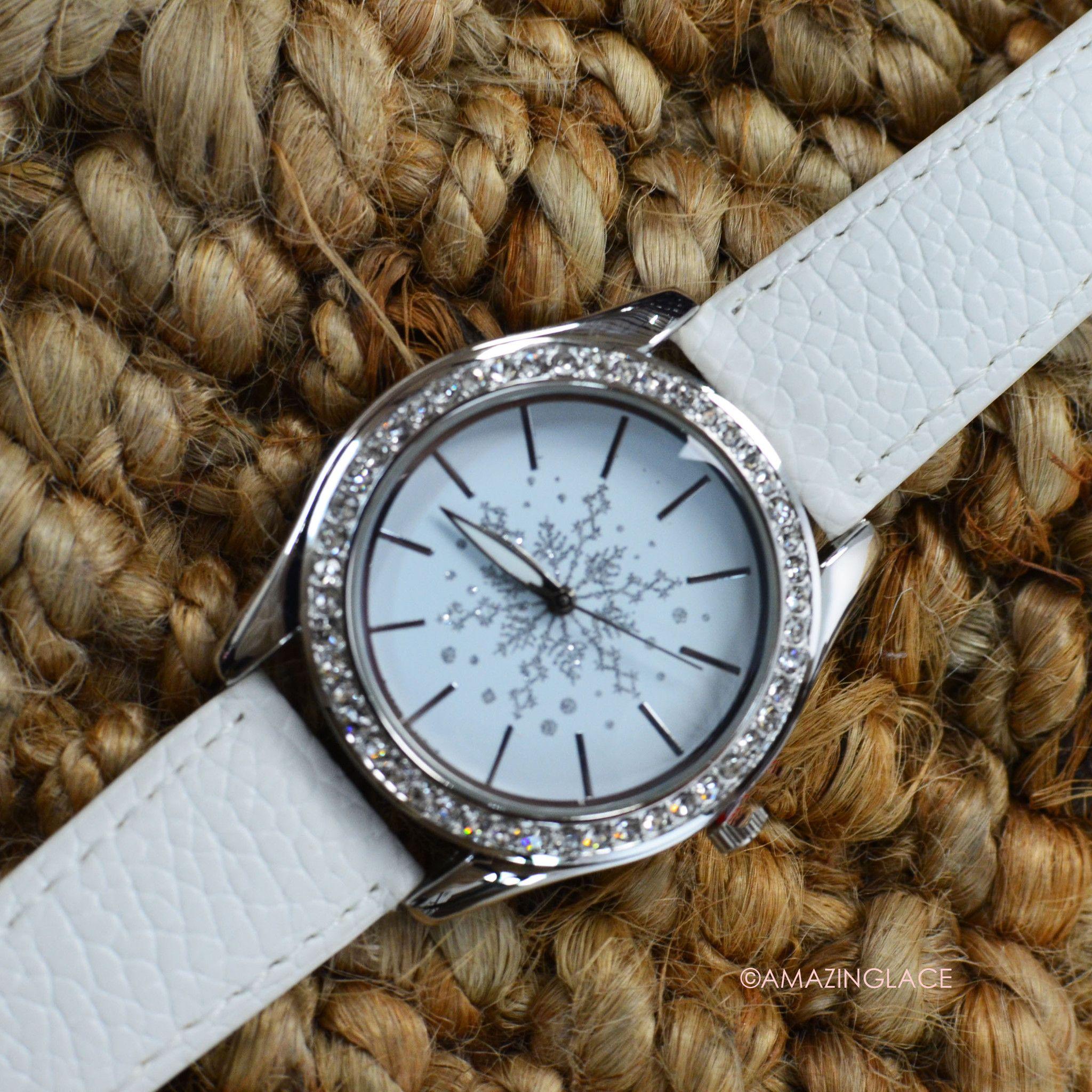 Snow White Snowflake Watch