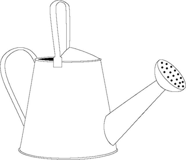 Coloring Pages Watering Can This Will Print Full Screen For