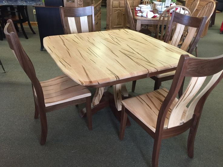 Beautiful Wormy Maple Walnut Dining Room Set Walnut Dining Room Amish Furniture Custom Made Furniture
