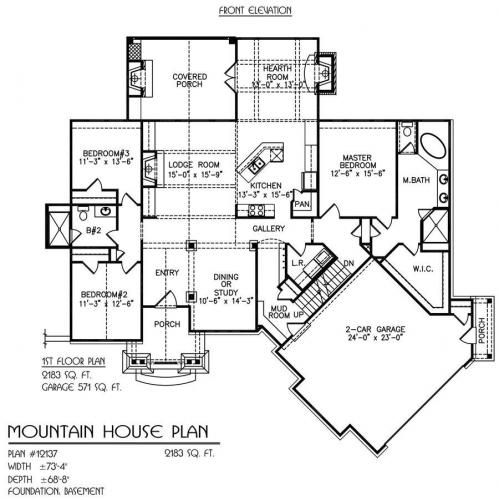 Mountain House Plan First Floor Blueprints Floor Plans Architectural Drawings Floor Plans Mountain House Plans House Plans