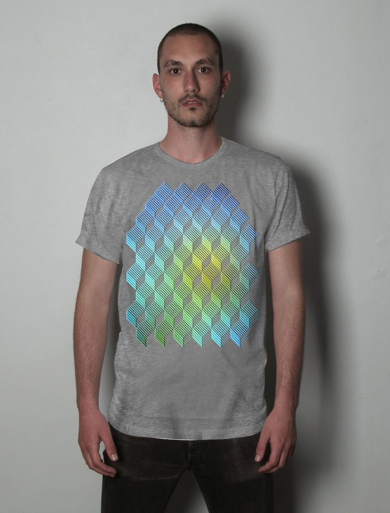Shirt design and colour - Colour Gradient T Shirt Design Idea