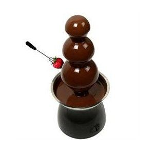 21 inch Chocolate Fondue Fountain with 3 Tiers and Heated Base