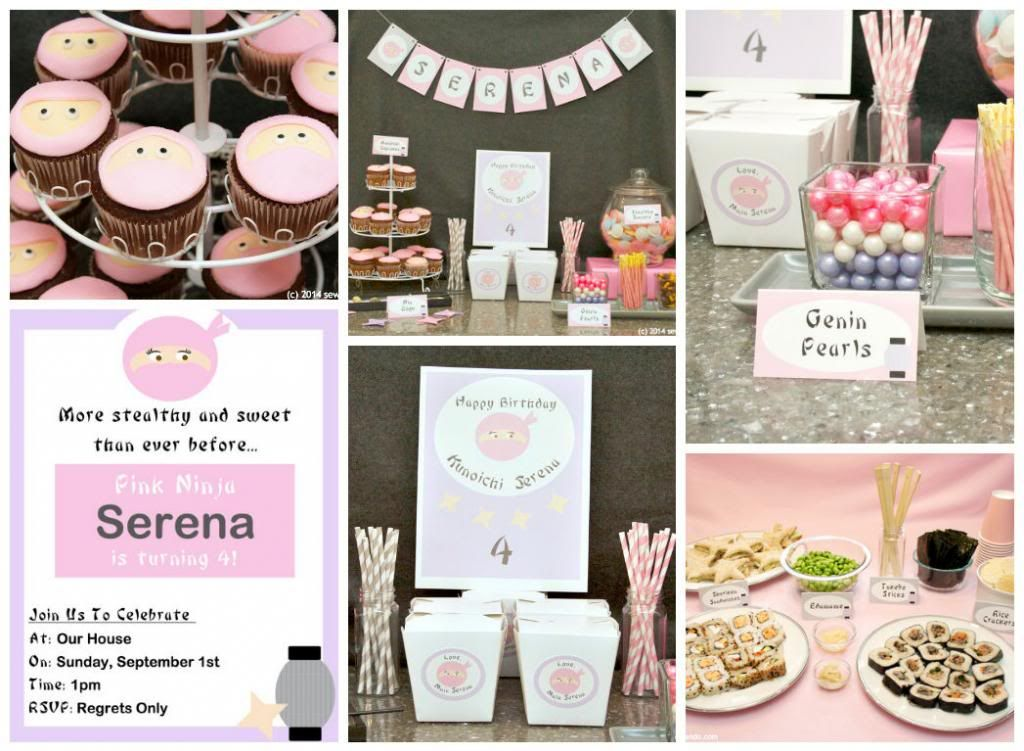 Sew Can Do: Though She Be But Little, She Is Fierce: A Pink Ninja Birthday Party