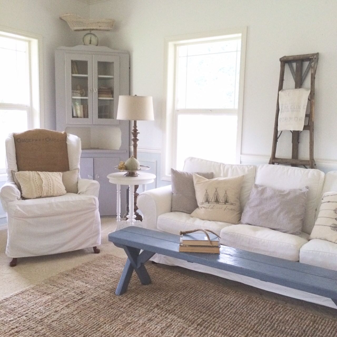 Vintage Country Living Room a blog about farmhouse style design, country living, home