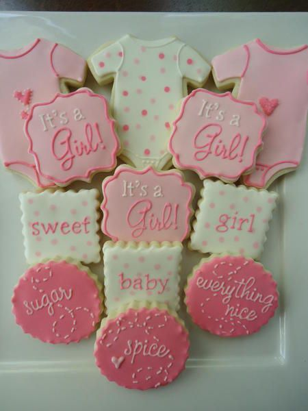 baby girl shower cookies  baby cookies    baby girl, Baby shower invitation