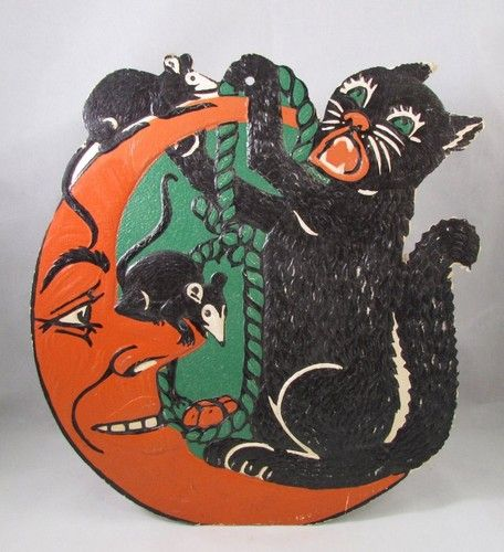 Vintage Die Cut Halloween Decoration HALLOWEEN 4 Pinterest - halloween decoration images