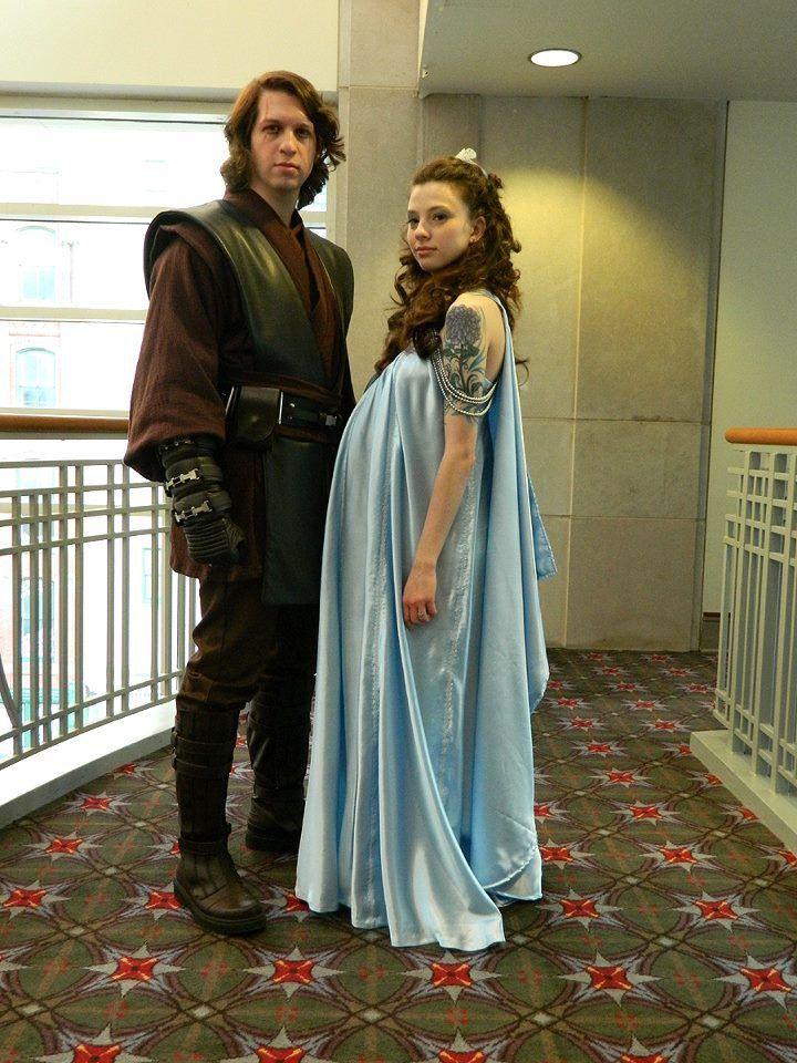 6089c56311 Padme Amidala Lavender  Steel Blue Nightgown Episode III Star Wars ...