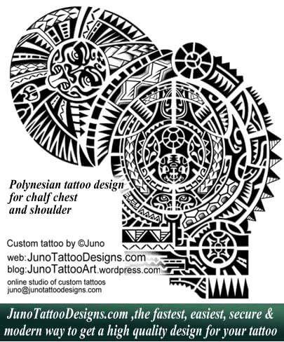 Polynesian Tattoo Shoulder By Juno Designs