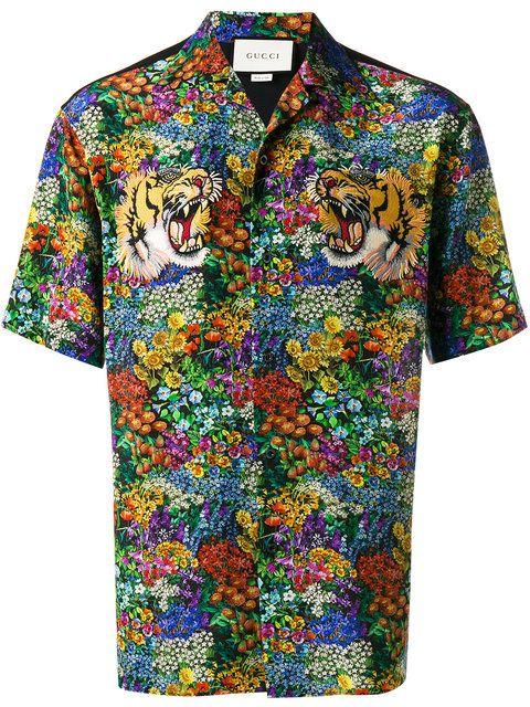d7b0c1454d9 Gucci floral print bowling shirt | Men fashion in 2019 | Gucci ...