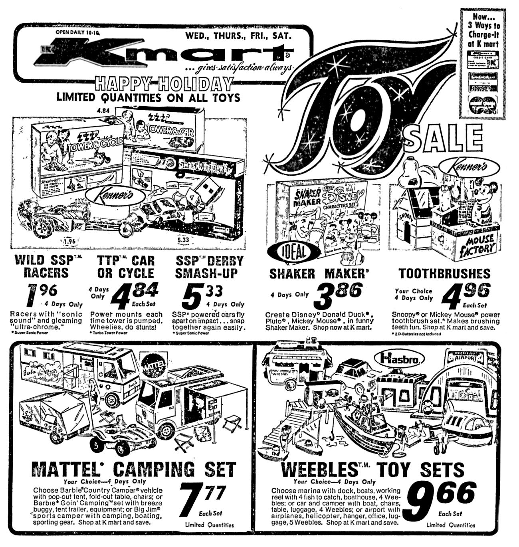 Kmart Christmas Toy Sale - 1973 | 1970\'s & 1980\'s Newspaper Vintage ...