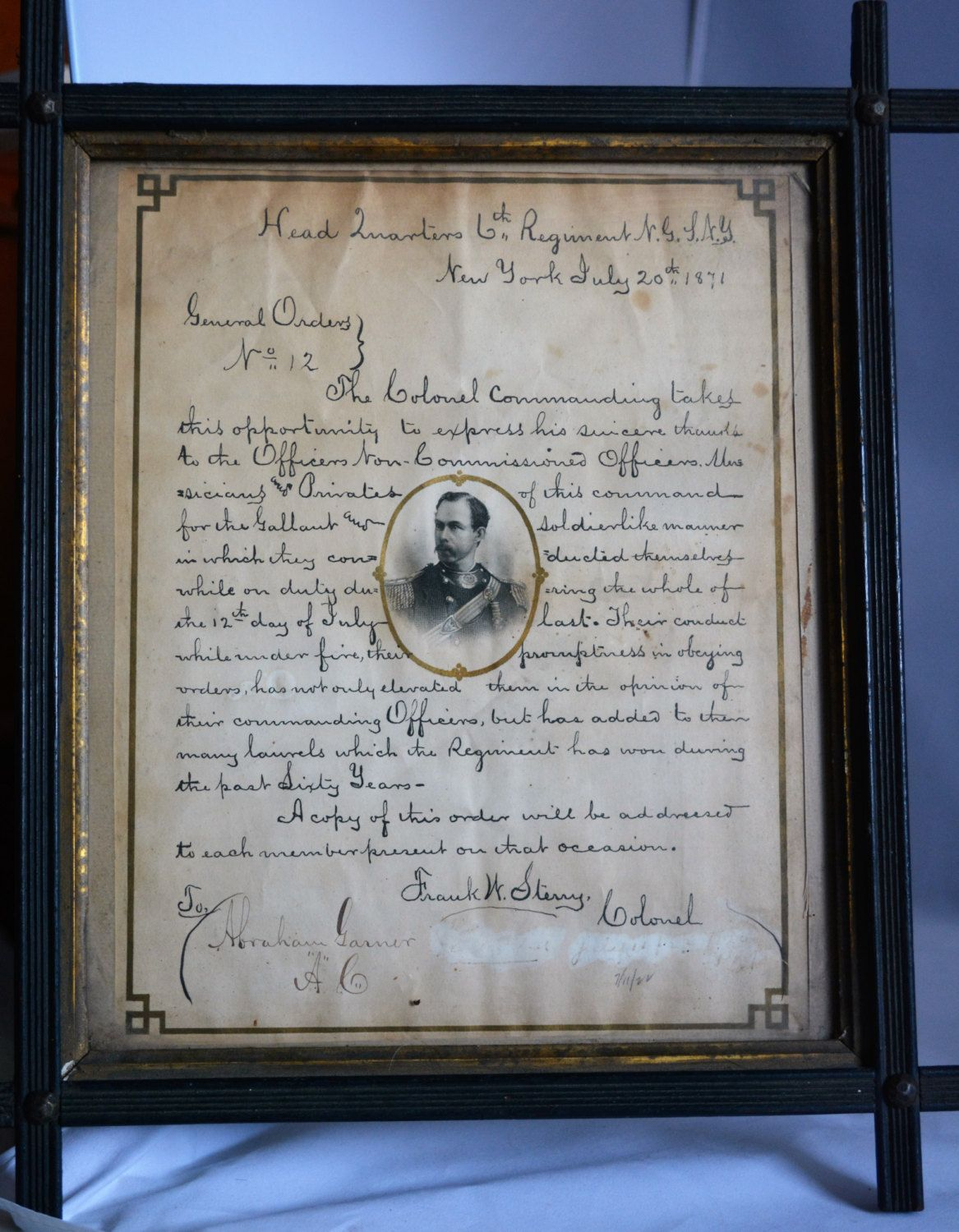 Military Letter Of Commendation Th Regiment Military