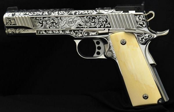 Custom Kimber 1911 With Some White Pearl Grips And This Would Be My