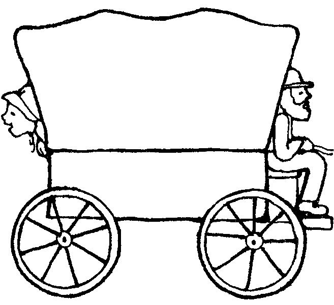 48+ Covered wagon clipart black and white ideas in 2021