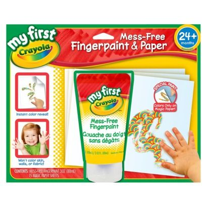 For Tank: My First Crayola Mess Free Finger Paints