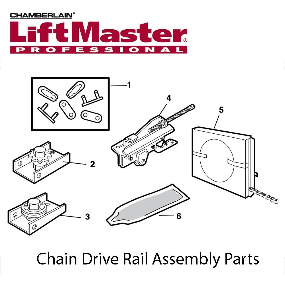 Liftmaster 041d3484 Chain Assembly 7ft Door Liftmaster Garage Door Liftmaster Garage Door Opener