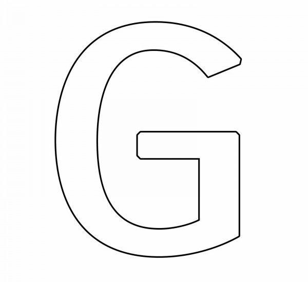 letras-para-colorear-g.jpg (600×549) | Letra G Lectoescritura ...