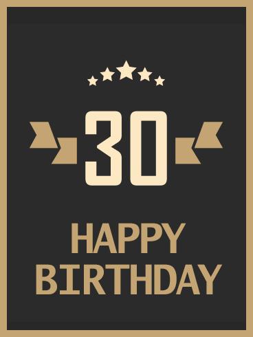 Stylish Happy 30th Birthday Card Birthday Greeting Cards By Davia 30th Birthday Cards Happy 30th Birthday Birthday Cards