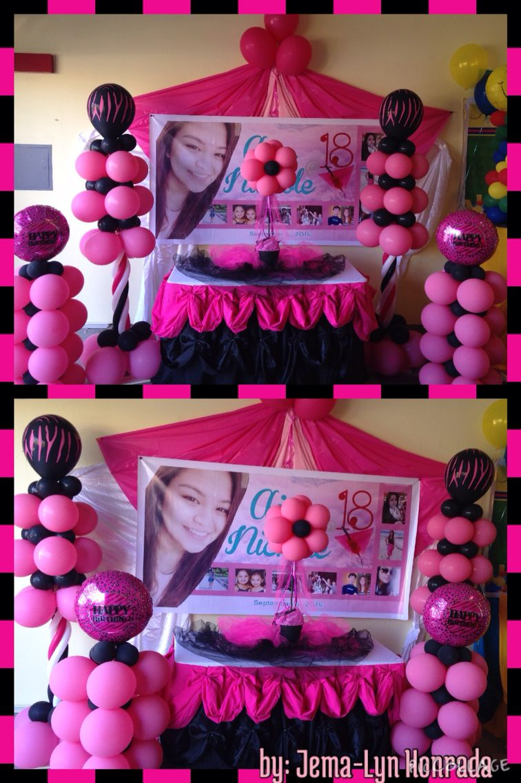 18th birthday Pinkblack themed The Ideal Events by JemaLyn