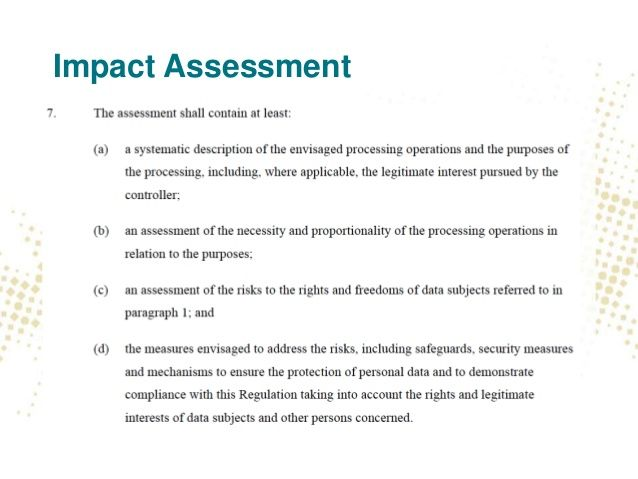Image result for GDPR Privacy Impact and Risk Assessments GDPR - impact assessment template