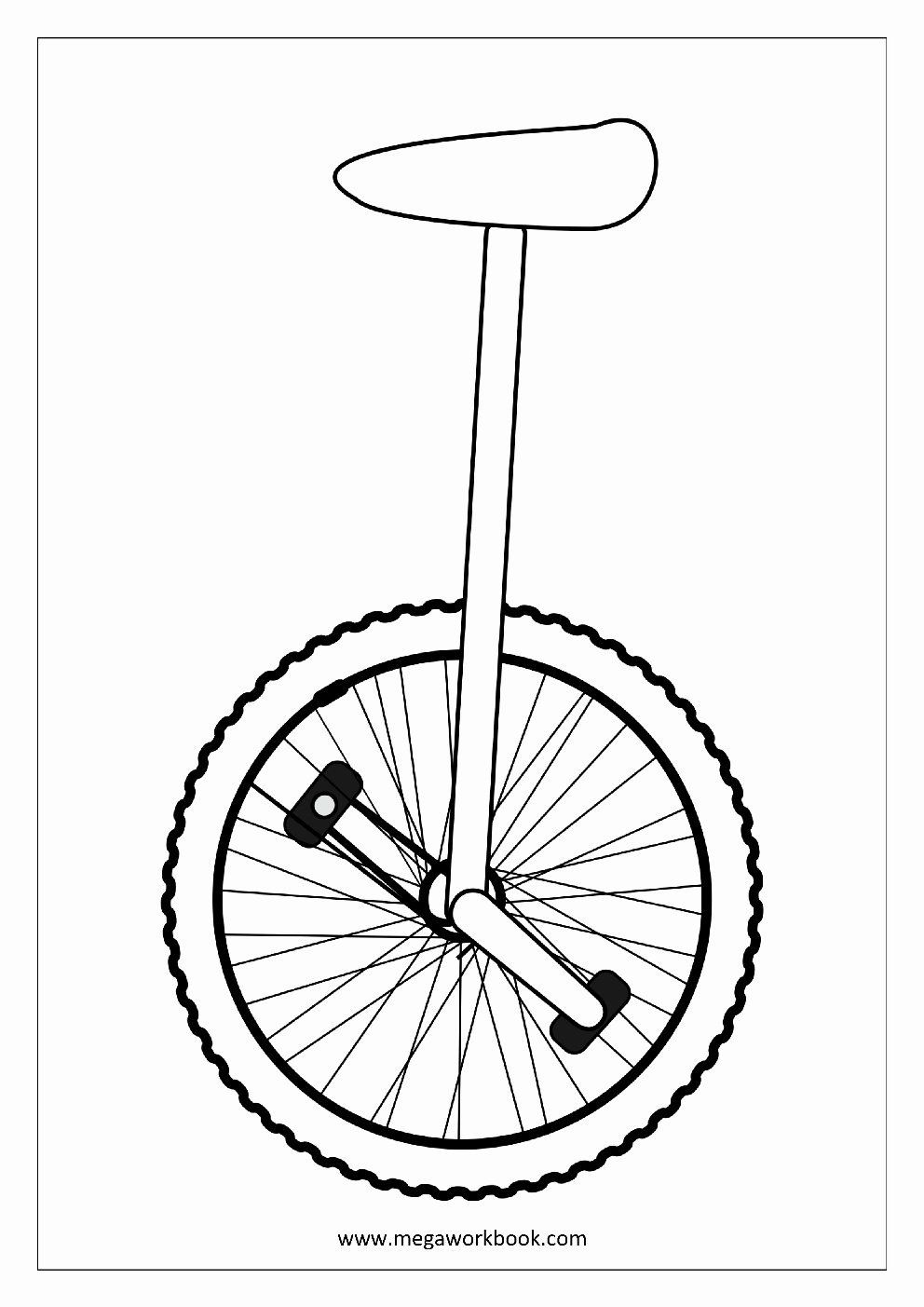 Coloring Sheet Free Printable Unique Unicycle Coloring Pages To Print Coloring For Kid In 2020 Coloring Sheets Free Printable Coloring Sheets Printable Coloring Sheets