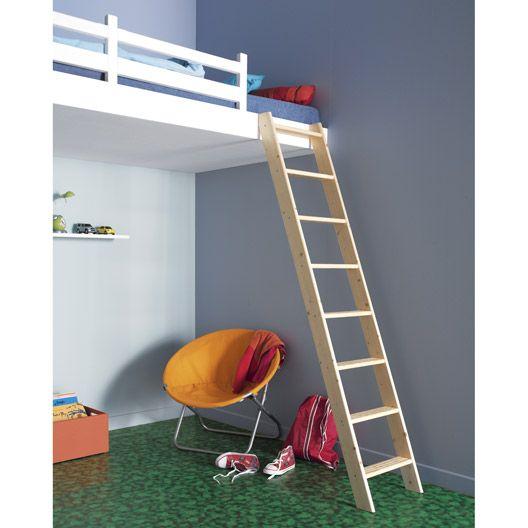Echelle De Mezzanine Utilitaire En Bois 8 Marches Haut Sol A Sol 1 92m Bed Home Decor Loft Bed