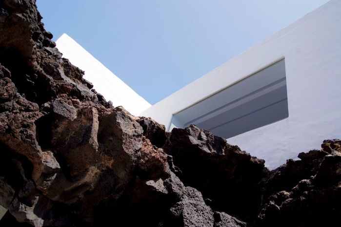View from a lava bubble room, Cesar Manrique house, Lanzarote.  Several visits with Chris.