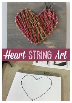 Heart String Art Tutorial Craft Night String Art And String Art