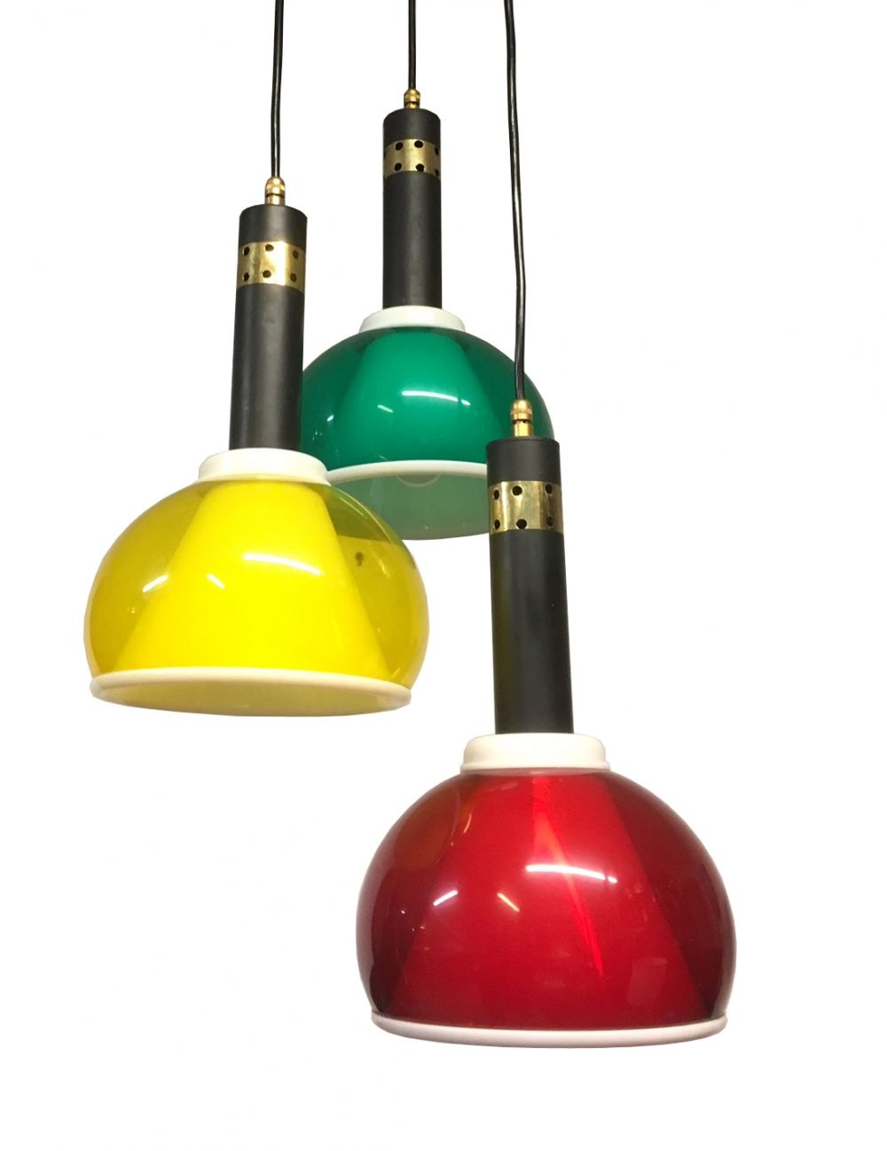 S Brass u colored perspex ceiling lamp light Pinterest