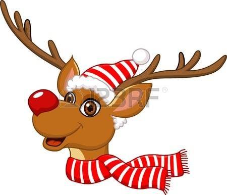 renos de navidad ilustracin de la linda Navidad del reno