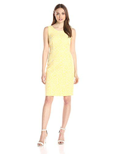 e203db9fb264 Kasper Women s Jacquard Sheath Dress