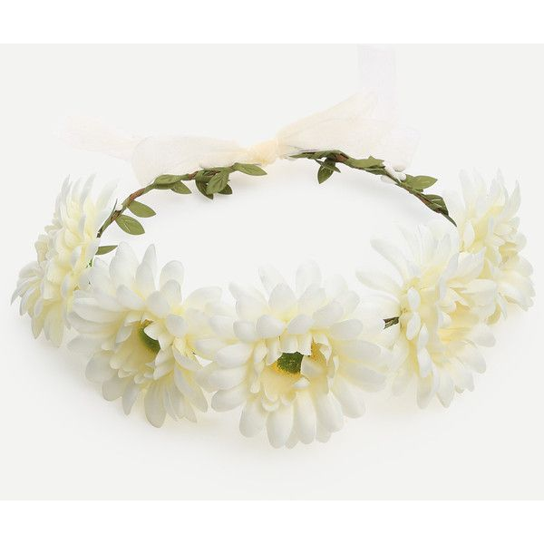 White flower crown hairband 499 liked on polyvore featuring white flower crown hairband 499 liked on polyvore featuring accessories hair accessories mightylinksfo
