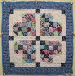 Custom Amish Quilts - Patched Heart Patchwork Small Quilt Wall ... : amish quilt wall hangings - Adamdwight.com