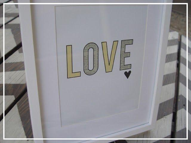 Love poster free printable